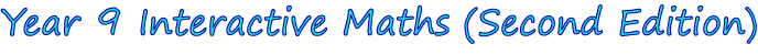 Year 9 Interactive Maths Software (Second Edition)