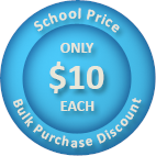 School bulk purchase discount price is only $10 per student.