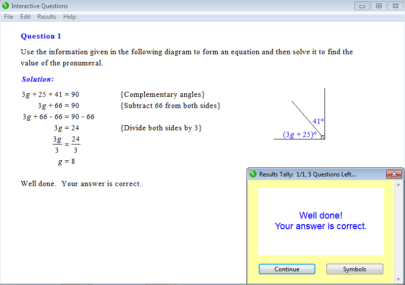 Solution for a question from Year 8 Interactive Maths, Chapter 5: Equations, Exercise 24: Problem Solving.